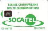 CARTE CENTRAFRIQUE SOCATEL 120U SC5 N° 43756 ETAT COURANT - Central African Republic