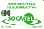 CARTE CENTRAFRIQUE SOCATEL 120U SC7 N° ROUGES C54149825 ETAT COURANT - Central African Republic