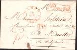 """Lettre Sans Texte Càd NAMUR / 1832 + PP + Encadré """"Franco Tout"""" Pour Munster. Rare - 1830-1849 (Belgique Indépendante)"""