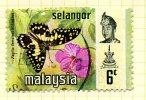 Malaya Selangor 1971 Butterflies 6c Definitive, Fine Used - Selangor