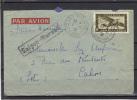 Indochine Lettre Avion Saïgon 1938  - Yvert  PA 8 A - Cachet Saïgon Marseille  Passe Marseille Gare Avion - - Cartas