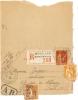 "REF LRD5 - CARTE LETTRE PAIX 50c RECOMMANDEE AVEC ""AR"" VERSAILLES / PARIS 21/10/1935 - Postal Stamped Stationery"