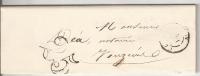 Acte Provenant D'un Notaire De Tagnon  Ardennes Avec Cachet De Vouziers 1854 - Marcophilie (Lettres)