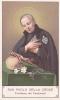 SANTINO SAN PAOLO DELLA CROCE  -OLD HOLY CARD - Religión & Esoterismo