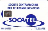 CARTE CENTRAFRIQUE SOCATEL 60U SC5 N° 43745 ETAT COURANT - Central African Republic