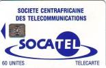 CARTE CENTRAFRIQUE SOCATEL 60U SC4 N° 43744 ETAT COURANT - Central African Republic