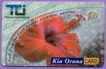 T C I  Telecom Cook Islands   Kia Orana Card   $10   Fleur  Rouge Sans Date  Illimitée  LUXE - Autres Prépayées
