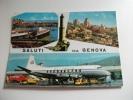 Genova Aeroporto Aereo Quadrimotore Alitalia Camion Mobil - 1946-....: Era Moderna