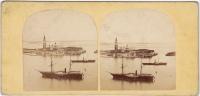 PHOTO STEREO ANCIENNE ITALIE VENISE ILE ST GEORGES - Stereoscopio