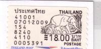 THAILANDE VIGNETTE POSTALE POST VIGNETTE  NEUVE MINT 18 BAHTS ELEPHANT THAILAND POST SUPERBE - Elephants