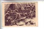 AFRIQUE EQUATORIALE FRANCAISE .- OUBANGUI-CHARI .- Femmes Devant La Case Du Chef Boubou Le Jour De Ses Funéraille - Central African Republic