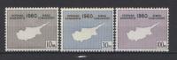 Cipro 1960 Unif 186/88 MNH VF - Non Classificati