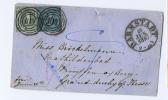 Thurn Und Taxis  1857 From Darmstadt Mix Stamps Kreuzers, Wimpfen, Grand Duchy Op Hesse - Thurn Und Taxis