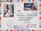 4119# Y&T N° 1362 RADIOTELESCOPE 1398 CHAGALL / LETTRE PAR AVION Obl PARIS 1964 Pour VLADIVOSTOK URSS RUSSIE RETOUR - 1961-....