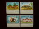 KUT 1972 10th.Anniv UGANDAN INDEPENDENCE  Issue 4 Values To 2/50  MNH. - Kenya, Uganda & Tanganyika