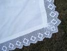 Piece De Tissu 368 Mm Largeur 69 Cm Dentelle Comprise -- Dentelle Hauteur 9cm Faite Au Crochet- - Laces & Cloth