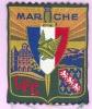 RARE Et  SUPERBE  Écusson Brodé - Pétiniste - Légion Française Des Combattants -Auvergne-- D´époque Et TTB (voir Scan) - Patches