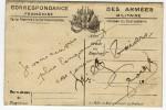 CORRESPONDAnCE DES ARMEES - FRANCHISE MILITAIRE NEUVE DOUBLE VOLET - CARTE DU FRONT PLATEAU CRAONNE - Marcophilie (Lettres)