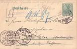 DR Ganzsache Berlin 7.6.02 Irrläufer Stempel Ansehen !!!!!!!!! - Briefe U. Dokumente
