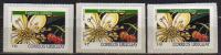 Fleurs: Le Cerisier De Cayenne (Eugenia Uniflora). 3 T-p Neufs ** Adhesifs (valeurs Differentes) - Uruguay