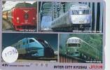 Carte Prépayée  Japon * JR CARD * TRAIN (11.036)  Japan Prepaid Card * Eisenbahn ZUG * TREIN * HUIS TEN BO - Treinen
