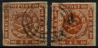 Danemark (1858) N 8 X2 Obt - 1851-63 (Frederik VII)