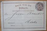 TOP Hufeisenstempel  DÜSSELDORF  1873 Postkarte Nach Höxter - Deutschland