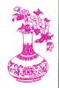 TOP!! WUNDERSCHÖNER ALTER SCHERENSCHNITT * 11 X 18 Cm IN LILA * BLUMENVASE **!! - Chinese Paper Cut