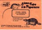 FOIRE A LA PAPERASSE DE GIVORS, ENVELOPPE,  RAT, BLAIREAU - Publicités