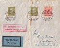 DR Brief Luftpost Mif Minr.379,2x 465 Karlsruhe 3.8.32 Flughafen Luftpostamt Freiburg (Breisgau) - Briefe U. Dokumente