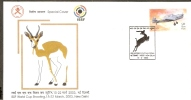 India 2003 ISSF World Cup Shooting Antelope Aeroplane Sport Sp Cover Inde Indien # 16170 - Shooting (Weapons)