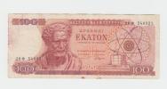 Greece 100 Drachmas 1967  VF CRISP Banknote P 196b 196 B - Greece