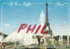 Paris - La Tour Eiffel Et Les Jets D´eau Du Trocadéro, Ref 1107-562 - Tour Eiffel