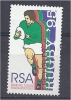 SOUTH AFRICA 1995 World Cup Rugby Championship, South Africa - (60c) Player Running With Ball And Silhouettes FU - Used Stamps