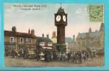 REGNO UNITO DOWNHAM MARKET MARKET PLACE AND TOWN HALL  CARTOLINA FORMATO PICCOLO VIAGGIATA NEL 1926 - Inghilterra