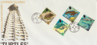 CAYMAN ISLANDS 1971 FDC Turtles - Tortues