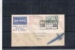 Lettre 1er Vol Entre Bombay Et Delhi - 10 Nov.37  (à Voir Recto-verso) - Inde (...-1947)
