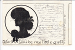 Silhouette Wont You Be My Little Girl 1906 - Silhouette - Scissor-type