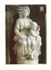 Cp, Sculpture, La Madone Avec L'Enfant Jésus - Michelangelo Buonarroti - Sculptures