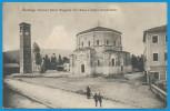 CARTE POSTALE MARIAGO TREVISO PIAZZA MAGGIORE CON CHIESA E RUDERO MONUMENTALE . ECRITURE 1935 - Vicenza