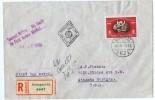 1950 FDC Timbre Unique Du Bloc 75è Ann De L´UPU  Mi Nr 1111A  Sur FDC Recommandé Pour Les USA - FDC