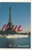 """Paris - La Tour Eiffel, M.S. """"Normandie"""", Ref. 1107-602 - Tour Eiffel"""