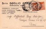 MOLTO RARA CARTOLINA POSTALE PUBBLICITARIA-DITTA DUGLIO CARLO-FERRAMENTA--CARBONI-ROMAGNANO SESIA - NOVARA16-3-1925 - Nuovi