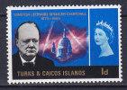 Turks And Caicos Islands 1966 Mi. 188    1 P Winston Churchill Commemorative MNH** - Turks & Caicos