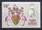 Turks And Caicos Islands 1969 Mi. 223    ½ C Queen Elizabeth II. & State Arms MNH** - Turks & Caicos