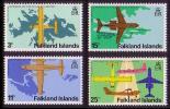Falkland Is. Stanley Airport Opening 4v SG360/63 - Vliegtuigen