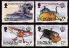 Falkland Is. Dep. Manned Flight 4v SG113/16 - Vliegtuigen