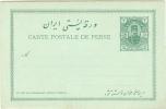 REF LCIRC2 - EMPIRE PERSE - CARTE POSTALE AVEC REPOINSE PAYEE 2CH + 2 CH NEUVE - Iran