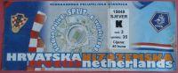 CROATIA : HOLLAND - 2008. Football Match Ticket Soccer Billet Foot Fussball Calcio Biglietto Billete Netherland - Tickets & Toegangskaarten