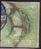 Edifil 51 Usado 2 Cuartos Verde De 1860, Rueda Carreta Y Fechador - Usados